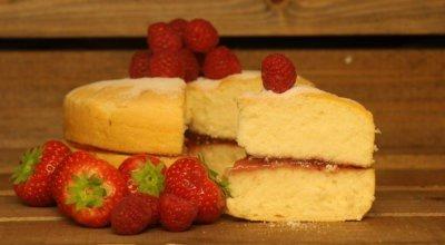 Gluten Free Sponge with Red Fruit Jam